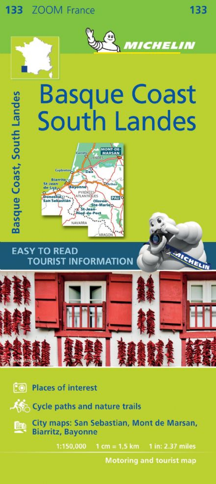 Michelin Map 133 - Basque Coast & South Landes